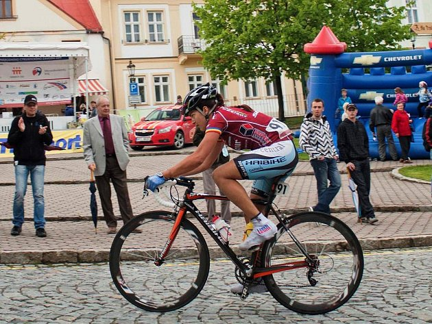 Bikerka Tereza Huříková na silničním speciálu při závodě Grácie Orlová, který jela v rámci přípravy.