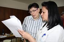 Na poliklinice si lidé mohli zdarma nechat změřit tlak a index tělesné hmotnosti (BMI).