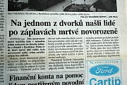 Radoslava Matuszková z Otrokovic vzpomíná na ničivé povodně v Otrokovicích v roce 1997.