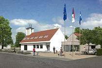 Vizualizace plánovaného polyfunkčního komunitního centra v Ratiboři na Vsetínsku.