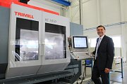 Na snímku spolumajitel společnosti Trimill Milan Julina u jednoho z obráběcích strojů.