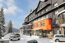 Hotel Lanterna v zimě.