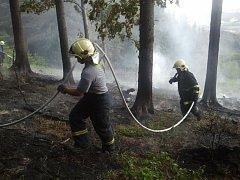 Požár lesa u Krhové - Trojačka.