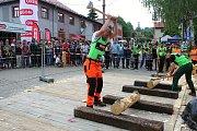 Téměř třicítka borců se sešla v sobotu 12. května 2018 na třetím ročníku dřevorubecké soutěže. Bojovali o titul Prlovský dřevař. Fyzicky nejnáročnější disciplínou byla letos novinka - sekání špalků.