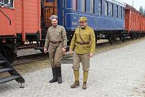 Pojízdné muzeum - čtrnáct vagonů tvořících legiovlak přijelo do Vsetína 24. září 2019. Do konce týdne bude představovat život vojáků v čs. legiích.