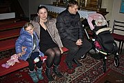 Mši svatou sledoval na Štědrý den 24. prosince 2018 odpoledne do posledního místa zaplněný římskokatolický kostel Nanebevzetí Panny Marie pod vsetínským zámkem na Horním Městě.
