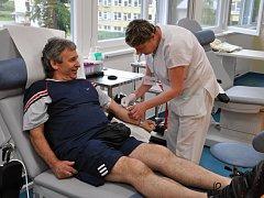 Darování krve.