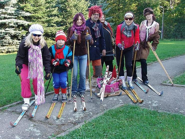 Zábavný biatlon ve Valašském Meziříčí