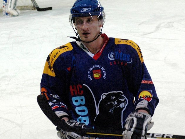 Hokejový útočník Valašského Meziříčí Robin Kovář.