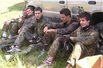 hokejisté Vsetína hráli paintball