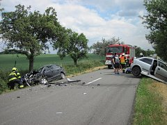 Dopravní nehoda u Kelče.