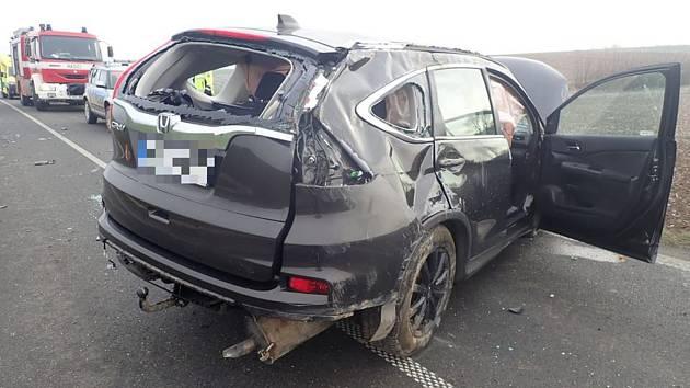 U obce Horní Lapač se dopoledne 4. ledna 2020 střetla dvě vozidla.