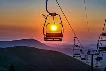 Západ slunce na Pustevnách