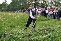 Tradiční setkání sekáčů na Soláni na Valašsku