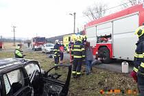 Autonehoda ve Valašském Meziříčí, 6. březen 2021.