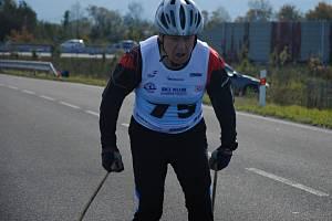 Na snímku pětasedmdesátiletý nejstarší účastník Jan Hanuš ze Zábřehu na Moravě