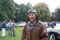 Arnošt Turča vlastní kabriolet MG Midget z roku 1978.