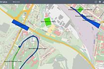 Interaktivní mapa nejen připravovaných projektů na webových stránkách města Vsetín.