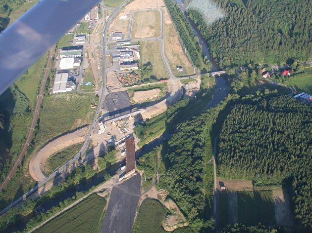 Stavba silnice ze Vsetína do Valašského Meziříčí