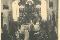 Svatba Marie Margarety Kinské s Leopoldem Podstatzkym-Lichtensteinem v dubnu 1931 v Lešné.