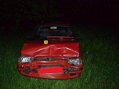 Dopravní nehoda ve vsetínské místní části Potůčky, sobota 14. května