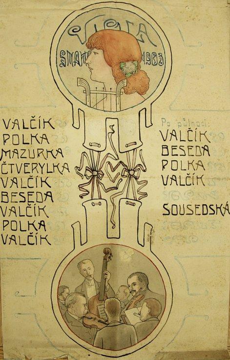 Pozvánka Snahy 1903