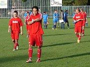Fotbalisté Vsetína (v červeném). Ilustrační foto.