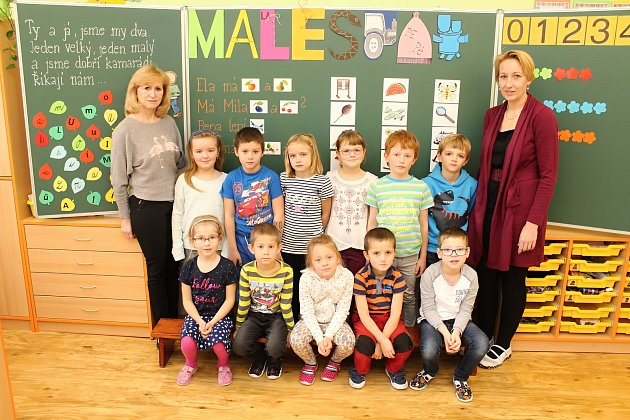 ZŠ Mikulůvka, 1.třída, třídní učitelka Dagmar Heraltová, asistent pedagoga Zuzana Coufalíková