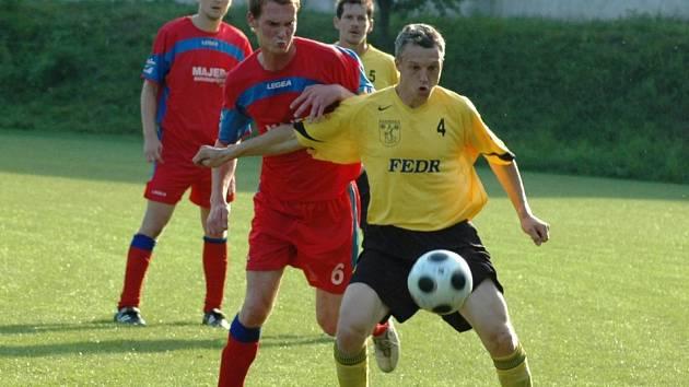 V tomto utkání mezi Kateřinicemi (ve žlutém) a Viganticemi se týmy rozešly smírně.