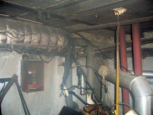 Požár v kotelně rodinného domu ve Stříteži nad Bečvou.