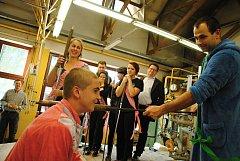 Pasování nováčků na Střední uměleckoprůmyslové škole sklářské ve Valašském Meziříčí