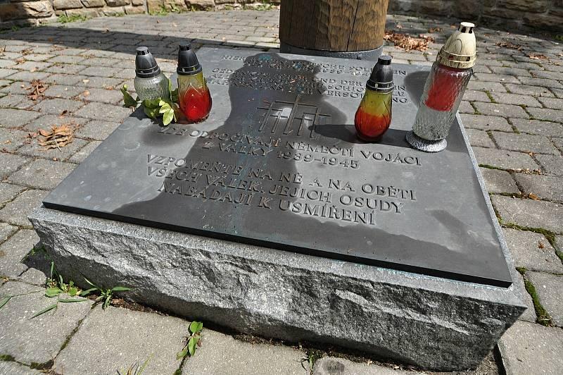 Valašské Meziříčí - hroby německých vojáků na městském hřbitově.