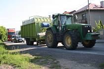 Zemědělci z Valašska se připojili ke stávce.