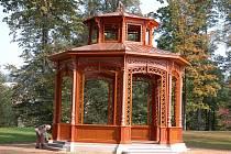 V Rožnově pod Radhoštěm obnovili hudební altán, který stával ve zdejším parku už na počátku dvacátého století