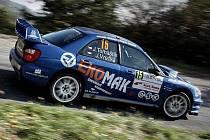 Valašská posádka Tomaštík – Vrečka na voze Subaru Impreza WRC.