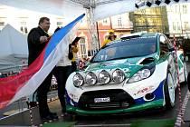 Se startovním číslem 5 vyjel na trať 29. ročníku Valašky Jaromír Tarabus s Danielem Trunkátem na voze Ford Fiesta S2000.