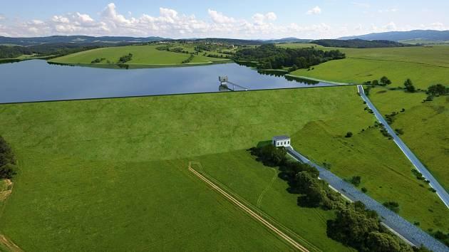 Vizualizace přehrady ve Vlachovicích