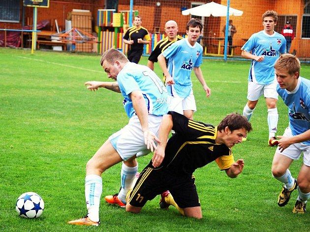 Do desátého kola Tip ligy byl zařazen i zápas krajského přeboru Kateřinice 1. Valašský FC. Domácí (tmavší dresy) vyhráli 4:2.