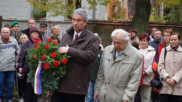 Ve Valašském Meziříčí si ve středu 28. října připomínali 91. výročí založení Československa