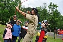 Nový dětský park Razulák u sjezdovky Razula ve Velkých Karlovicích, neděle 1. června 2014.