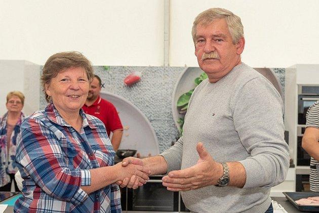 vítězka soutěže frgálů A. Šauerová