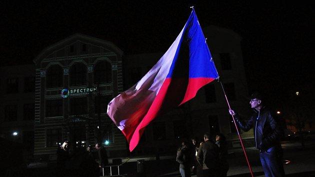 Oslavy 30. výročí sametové revoluce na náměstí Svobody ve Vsetíně