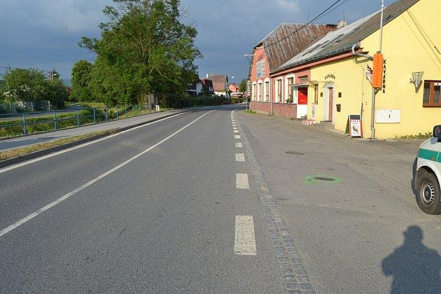 Centrum Poličné – místo úterního (16. června 2015) střetu Opelu s ženou na Babetě.