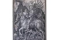 Albrecht Dürer: Rytíř, smrt a ďábel, 1513.