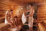 Saunový rituál při wellnes hotelu Horal.