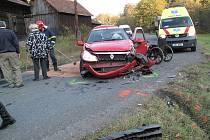 Dopravní nehoda u Valašské Bystřice