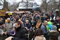 Vánoční jarmark patří každoročně k nejnavštěvovanějším akcím v rožnovském muzeu v přírodě.