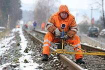 Železniční trať Vsetín – Velké Karlovice. Ilustrační foto.