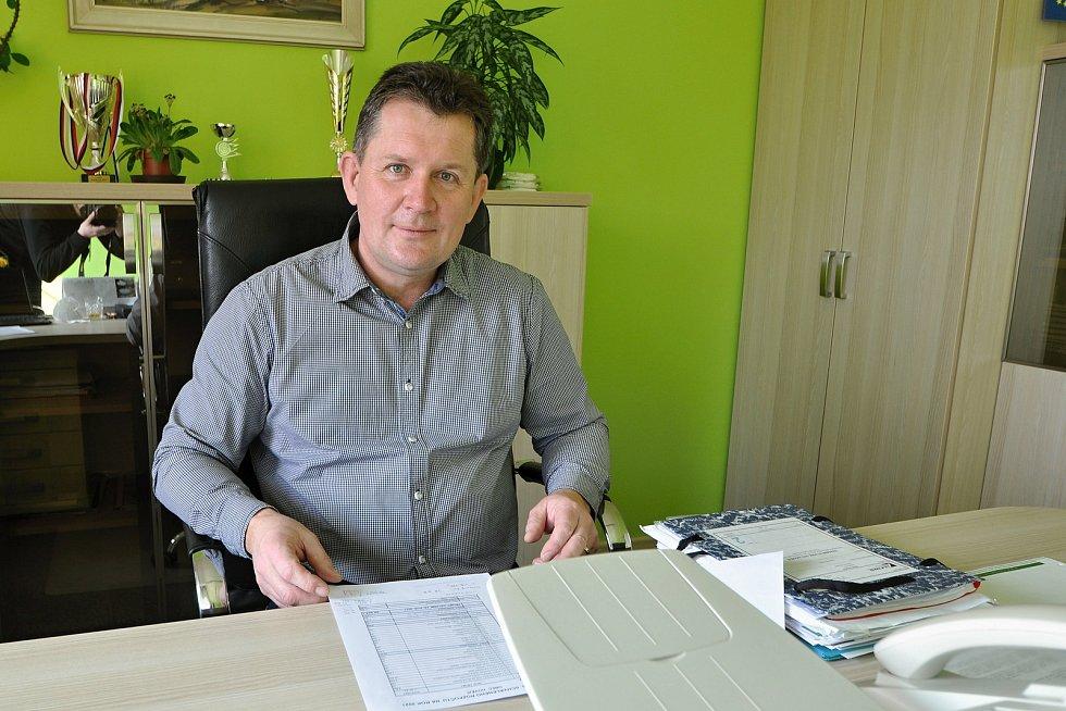 Hovězí - starosta obce Antonín Koňařík.