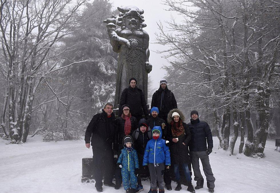 Na Pustevnách a u sochy Radegasta. 27.2. 2021